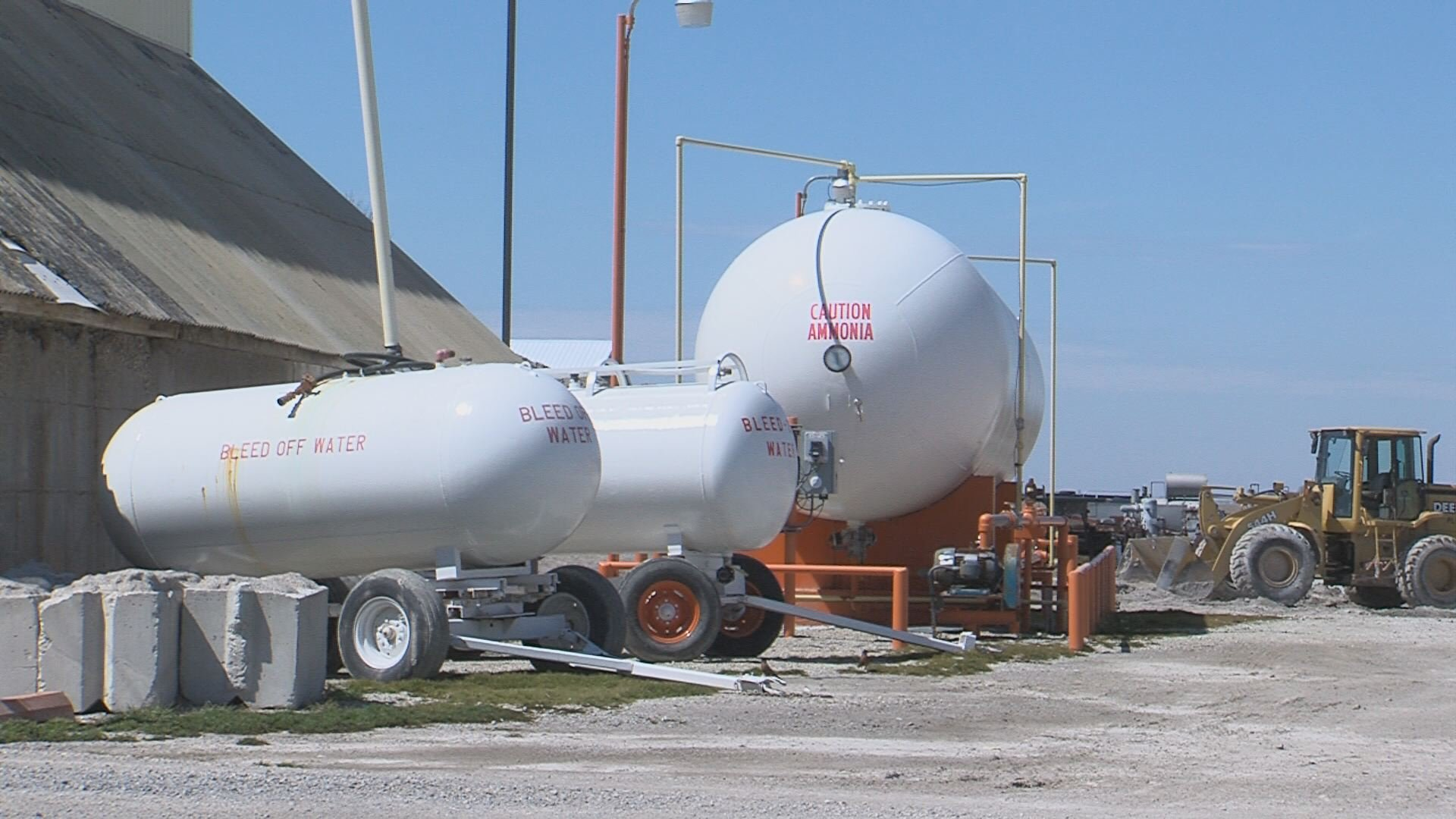 anhydrous ammonia spill leads to evacuations