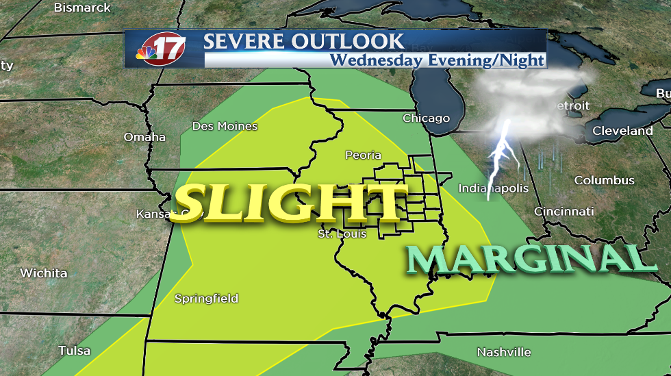 Severe storms possible again Wednesday evening  Wandtv  ~ Wand Tv Weather