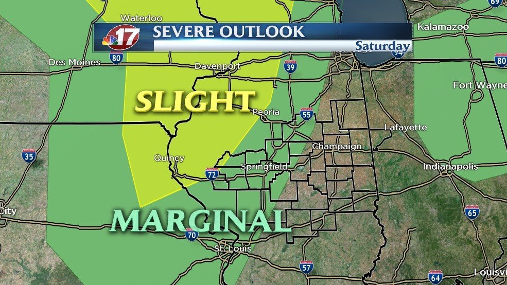 Severe Weather Possible Saturday Evening  Wandtvcom  ~ Wand Tv Weather