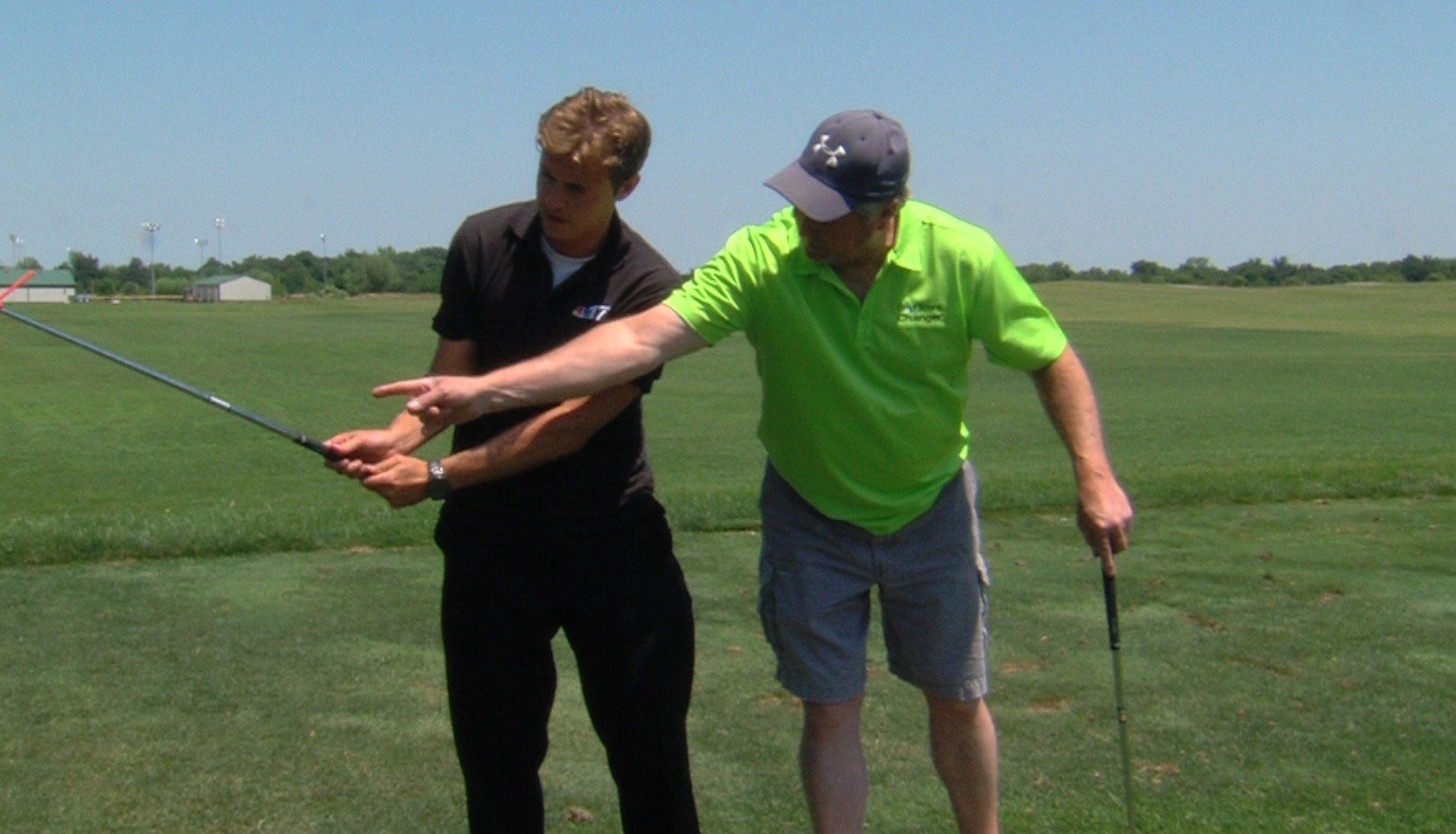 Hedrick introduces Noah Newman to the Golf Score Changer