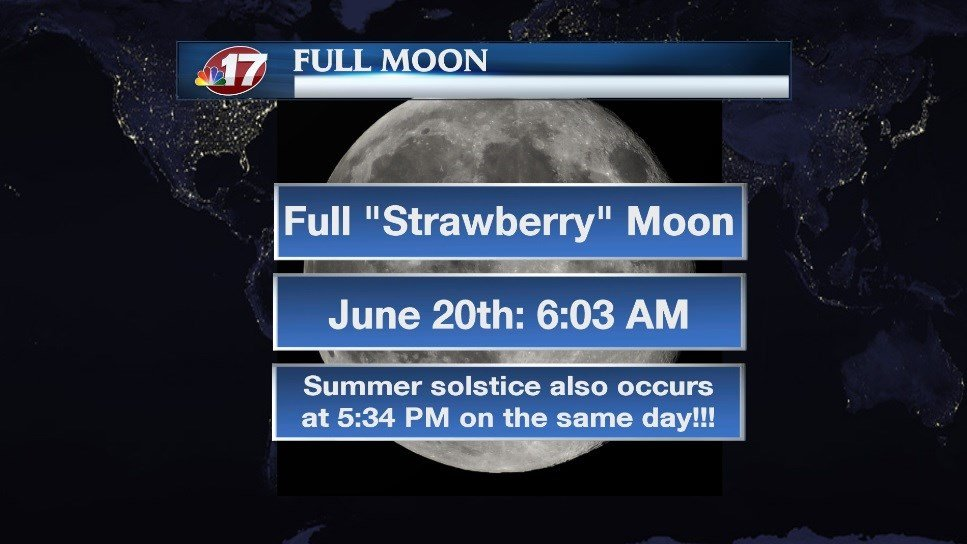 1st Strawberry Moon in 70 Years for Summer Solstice