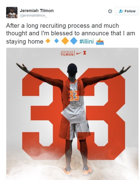 Illini land major recruit in former East St. Louis standout Jeremiah Tilmon