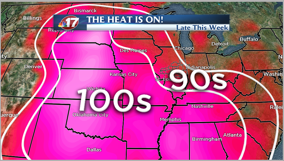 Extreme heat and humid conditions by end of the week  ~ Wand Tv Jc Fultz