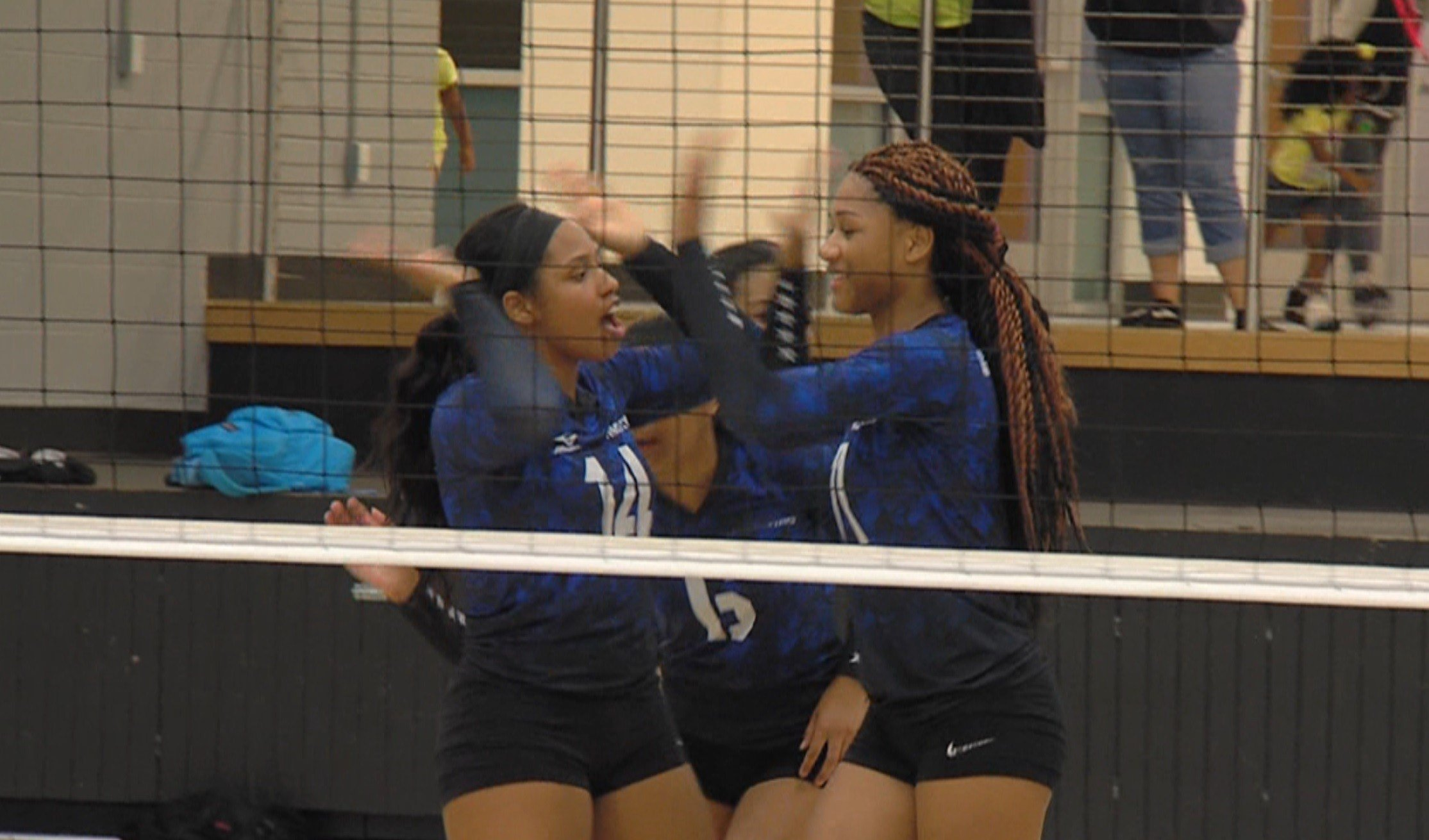 MacArthur's front line tandem of Jakya Pealer (left) and Mariah Shores proved too much to handle for host Eisenhower on Tuesday night in Decatur.