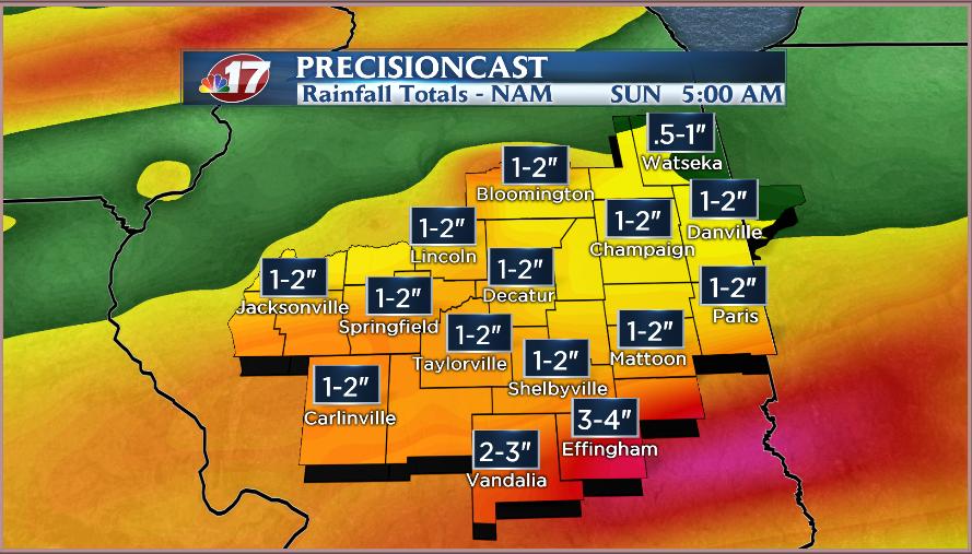 Heavy Rains Possible  Wandtvcom, NewsCenter17  ~ Wand Tv Weather