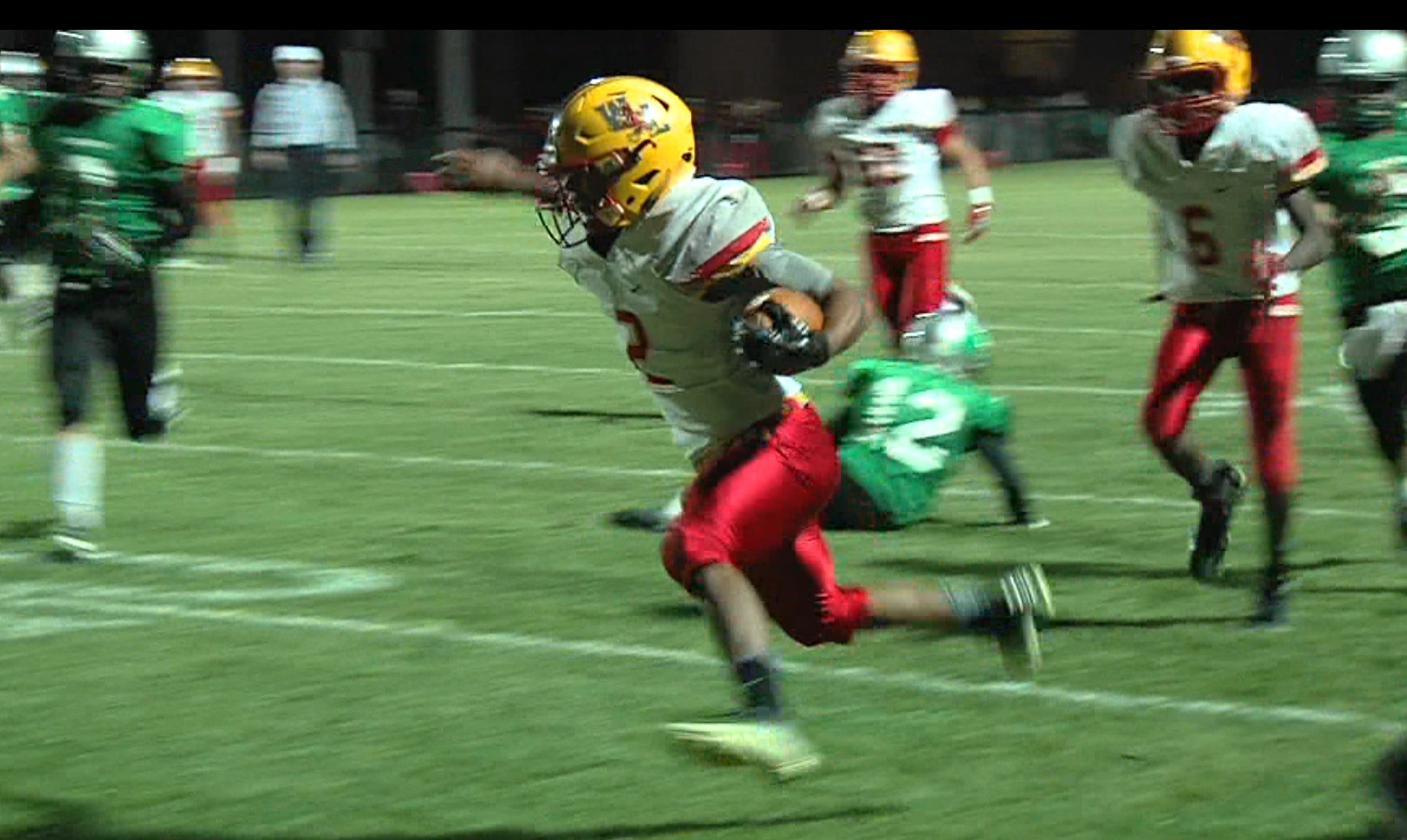 Warrensburg-Latham's Diondre Lewis has settled into his role as running back after playing receiver last season.