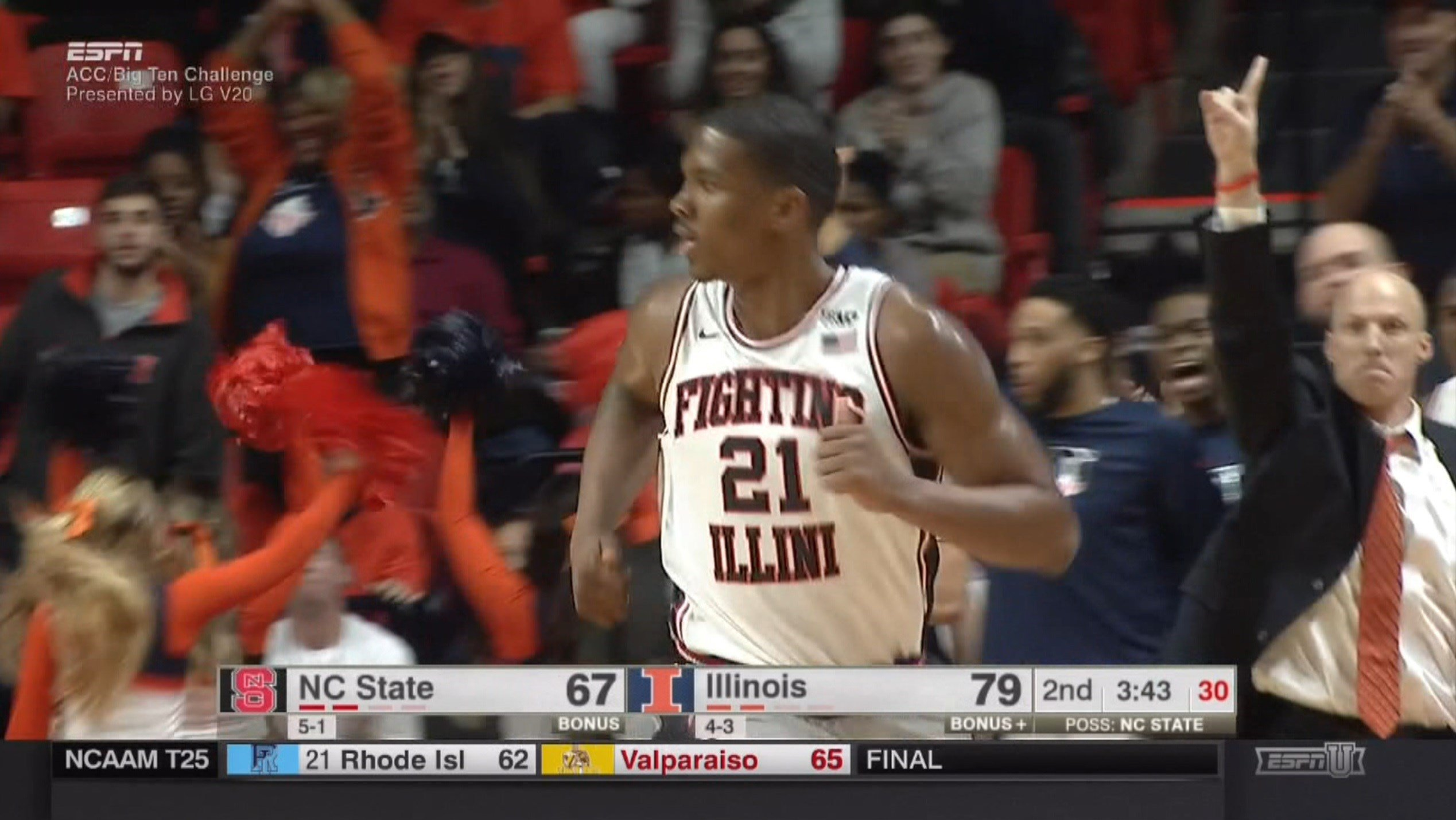 Illini senior Macolm Hill posted 22 points and Illinois picked up its first quality win of 2016-17 against North Carolina State.