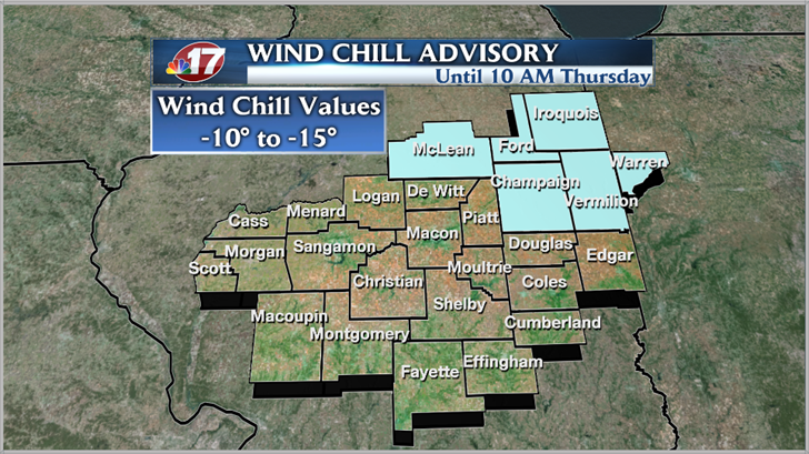 Wind Chill Advisory to Take Effect in Chicago Area Wednesday Night