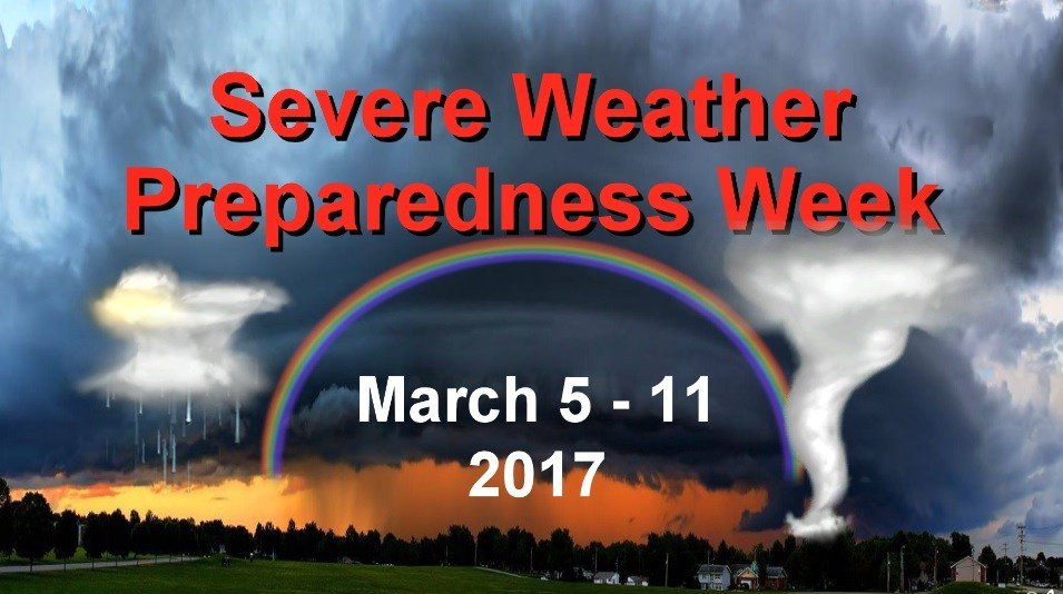 Severe weather/storm safety training scheduled as part of Severe Weather Awareness Week