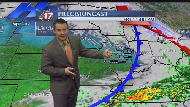 Fridays Forecast  Wandtvcom, NewsCenter17
