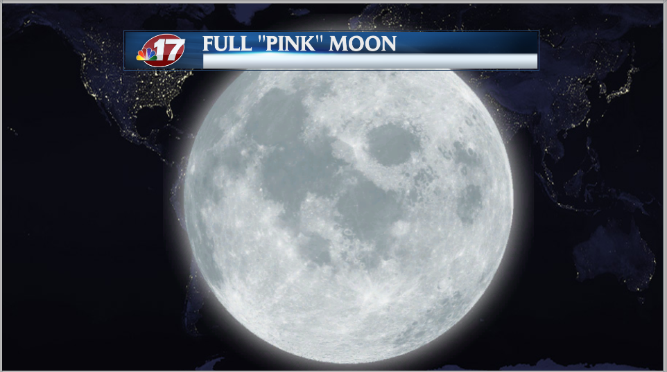 Full 'Pink' Moon shines bright in the sky - Wandtv.com ...