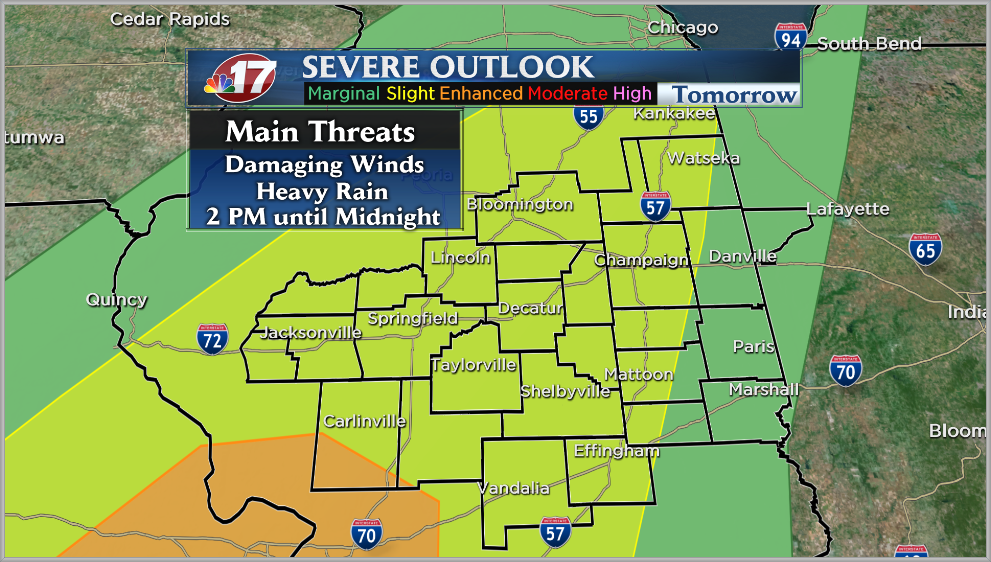 An unsettled weather pattern will bring strong storms through the week