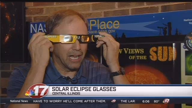 Specs of Madison handing out free safety glasses for the upcoming eclipse