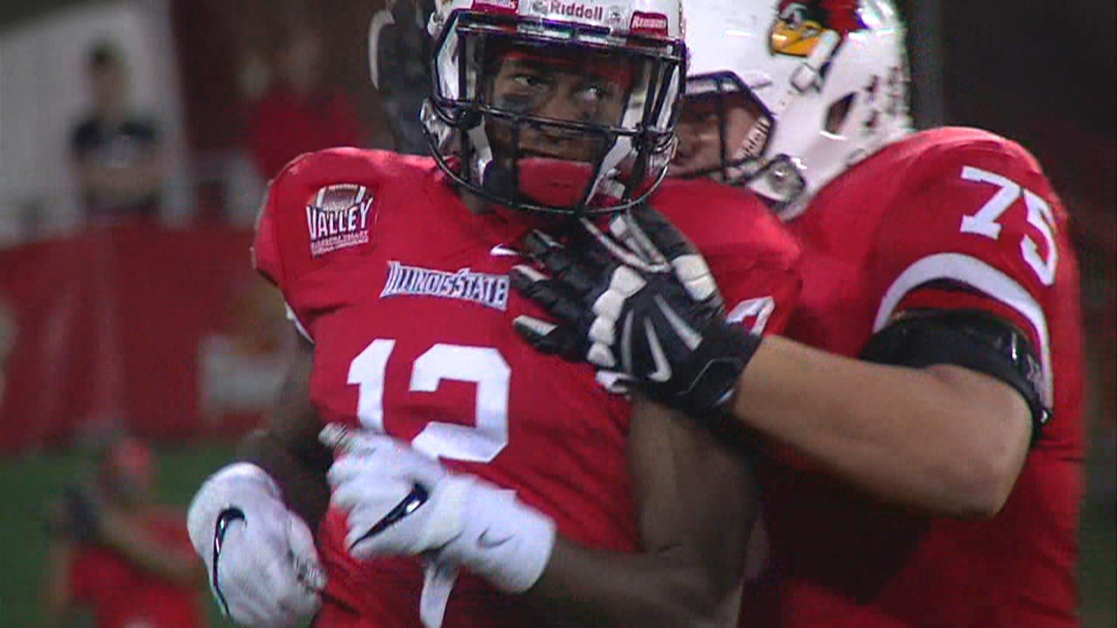 Senior receiver Christian Gibbs hauled in two touchdowns and 189 yards on Saturday against Indiana State.