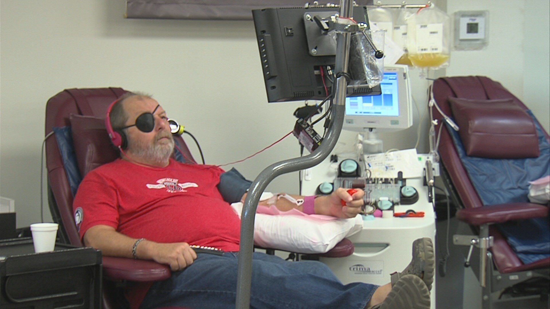 Locals give blood in wake of mass shooting and recent natural disasters