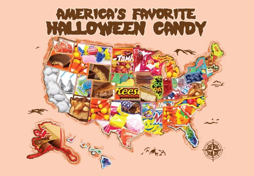 Favorite Halloween candy in each state