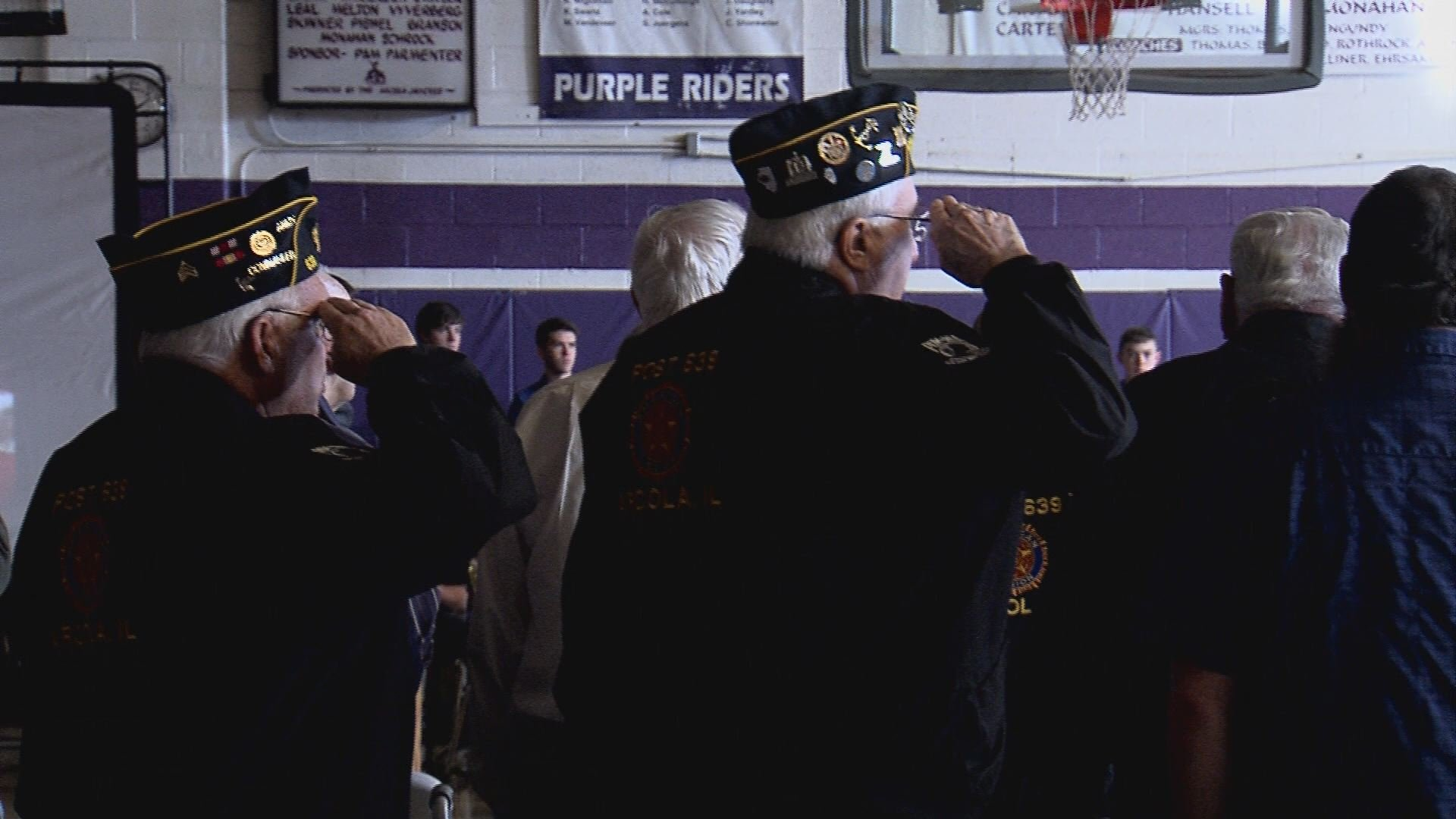 Veterans Day ceremony at Carroll High