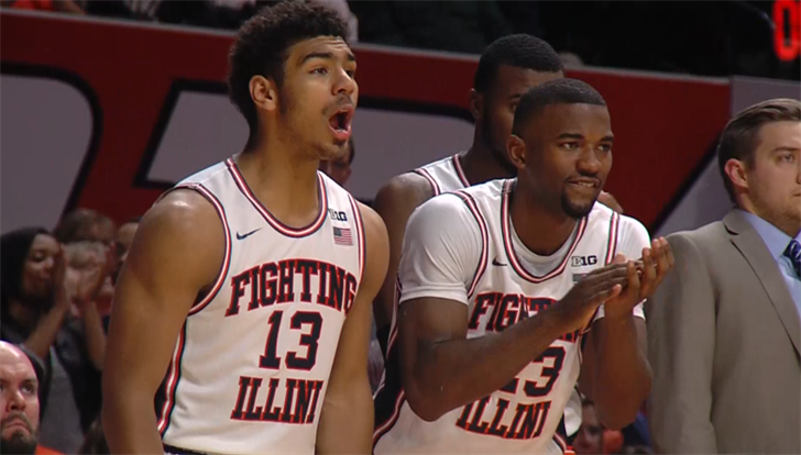Freshman guard Mark Smith (left, 21 points) and Aaron Jordan (7 points, 9 rebounds) helped Illinois get past DePaul 82-73 on Friday night in Champaign.
