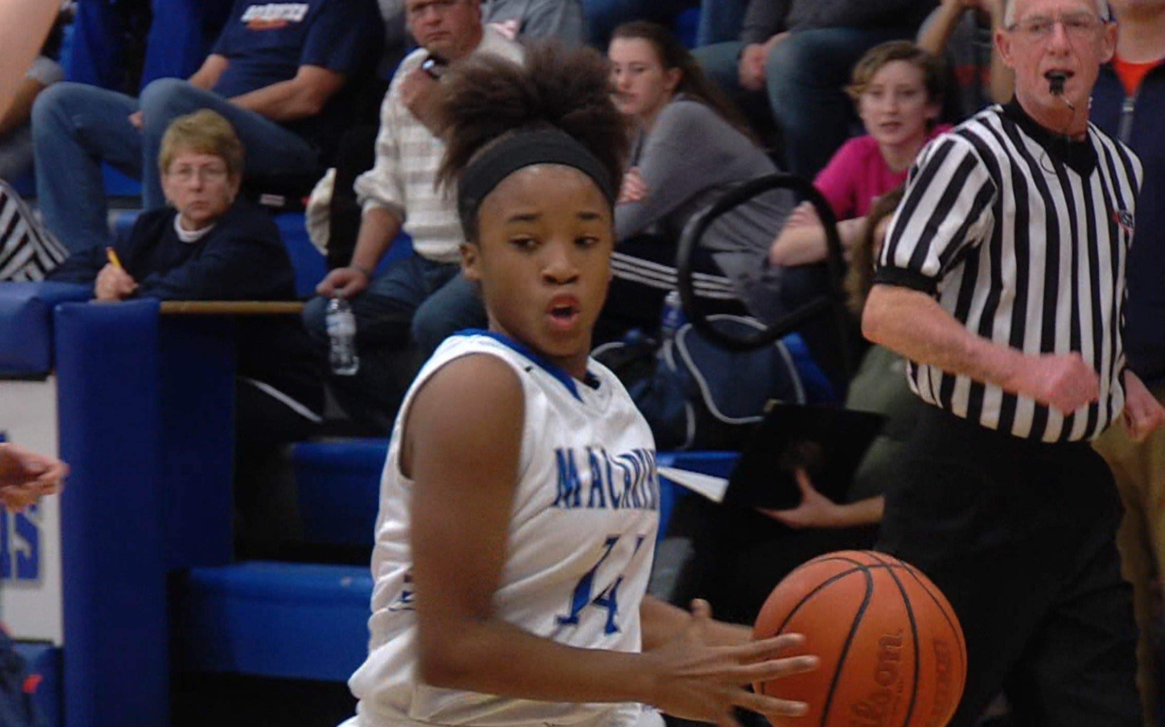 Freshman guard Taya Davis leads MacArthur with 3.8 assists per game to go with 8.5 points per game.