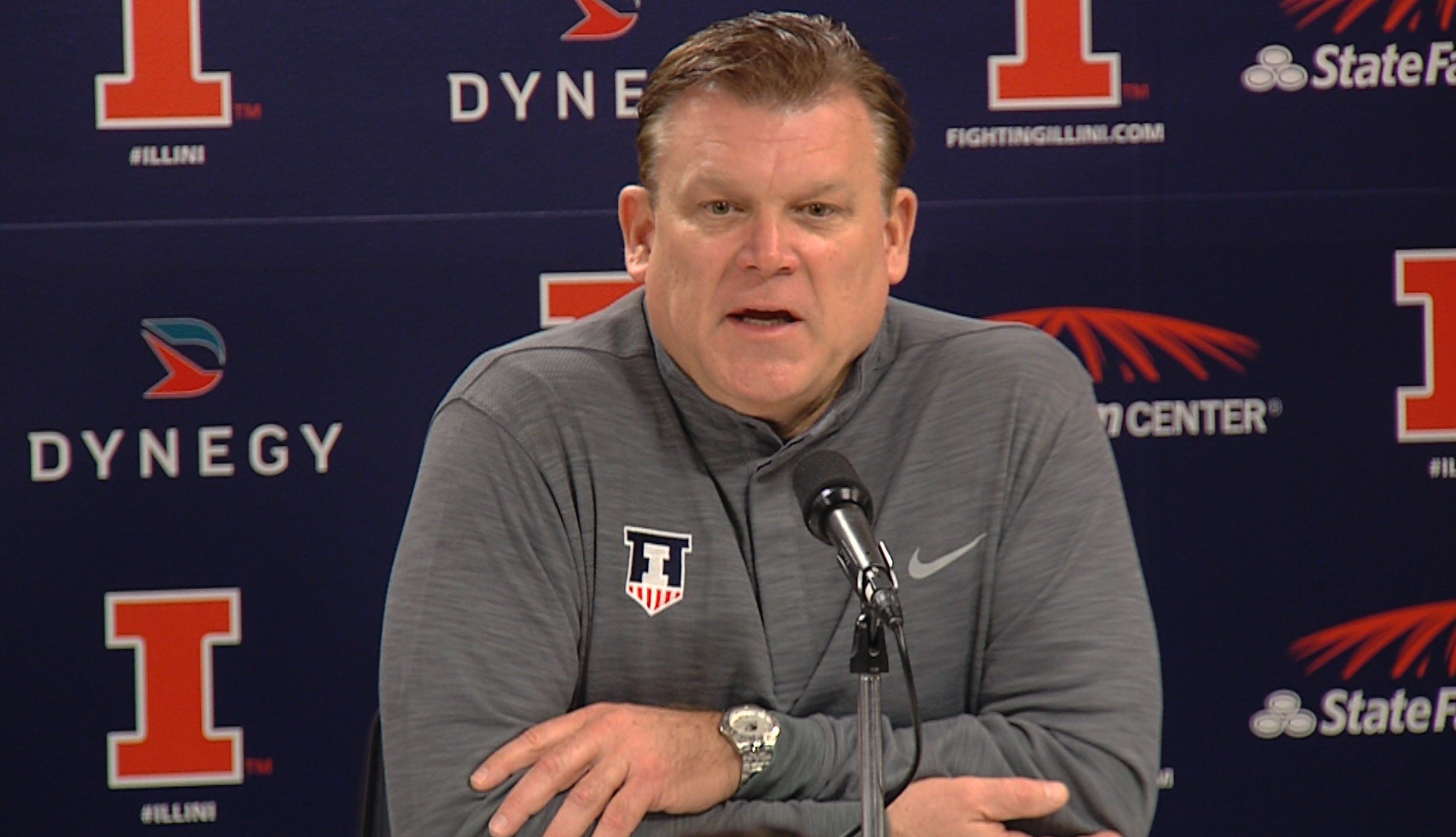 Head coach Brad Underwood is entering his first Braggin' Rights matchup as head coach of Illinois.