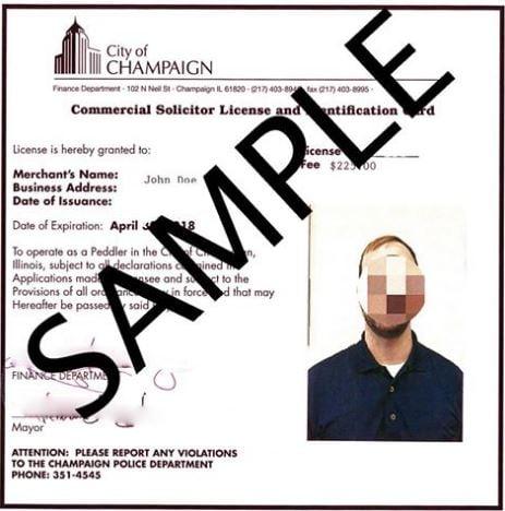 Pictured: Champaign door-to-door permit