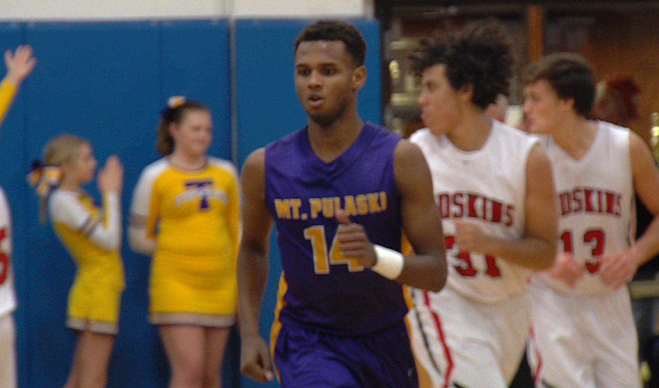 Mt. Pulaski senior guard Gezus Oliver posted 25 points in the first half of Friday's win over Sullivan on Day Two of the St. Teresa Christmas Tournament.