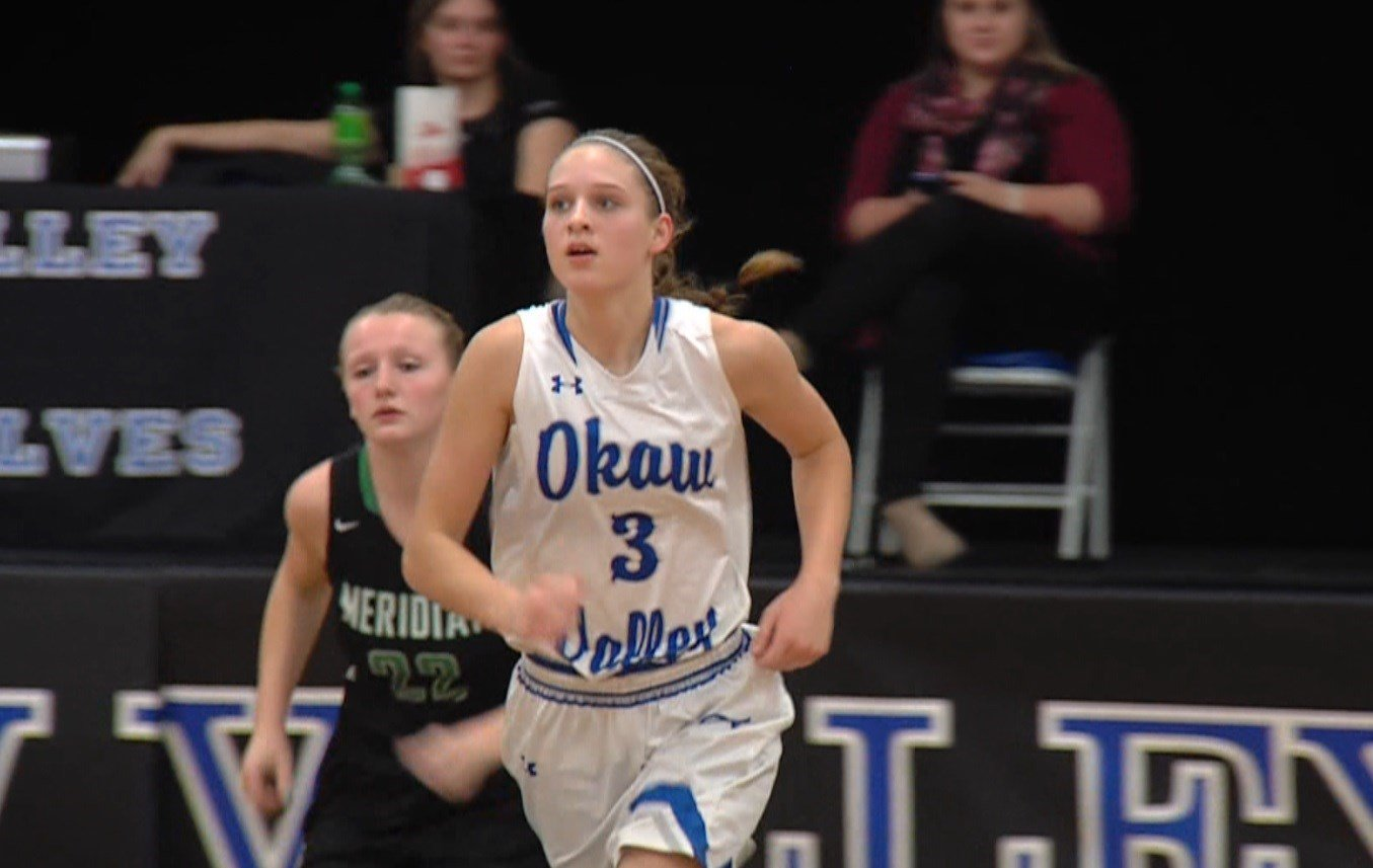 Okaw Valley senior Paige Robinson and her 21 points per game are a big reason for the Timberwolves' 24-5 regular season record.