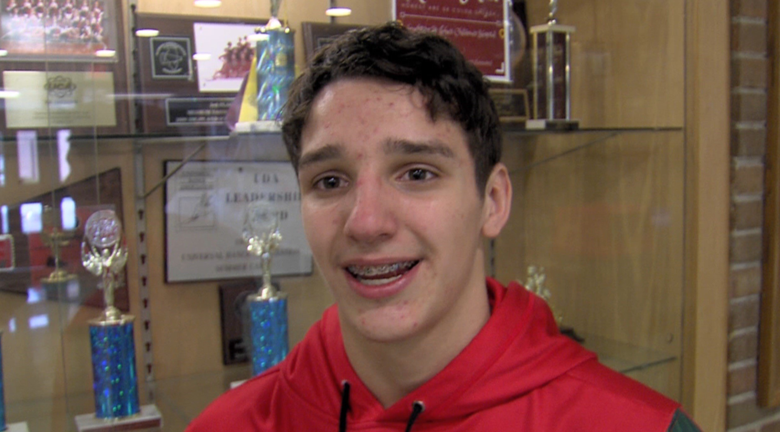 Austin O'Donoghue, 14, is the first Lincoln wrestler in school history to qualify for the state meet.