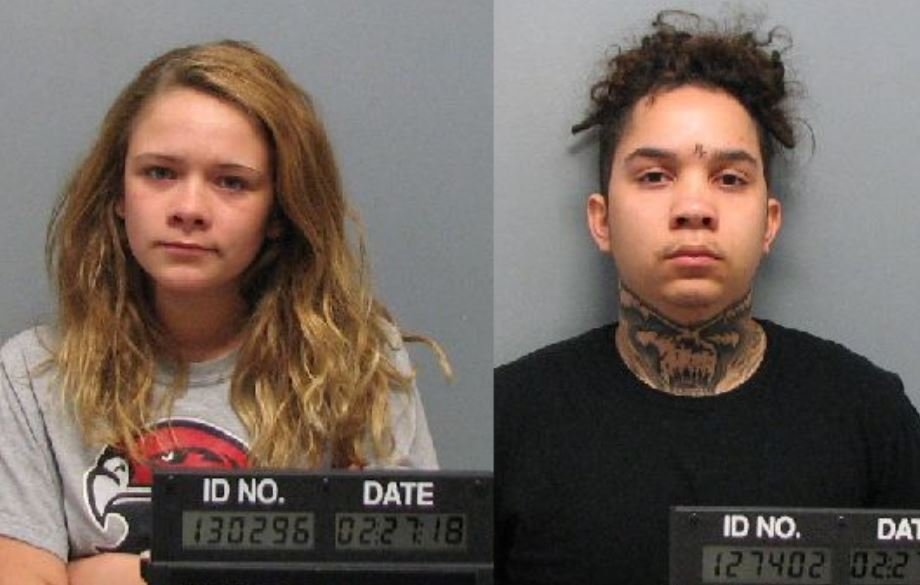 Pictured: Katherine Smith (18) and Dayne Woods (20)