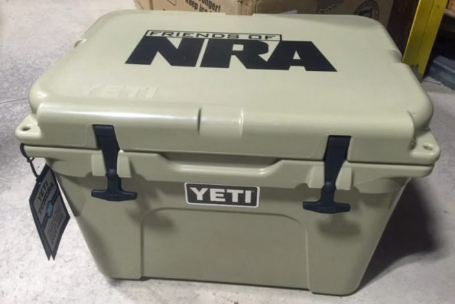 Nra tells people to put stickers over yeti logo on products