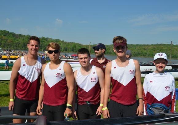 Corbin Steck (third teammate) and team after regionals