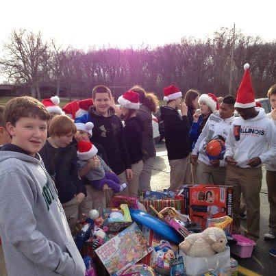 Star performers: 8th graders from Our Lady of Lourdes donated 200+ toys!
