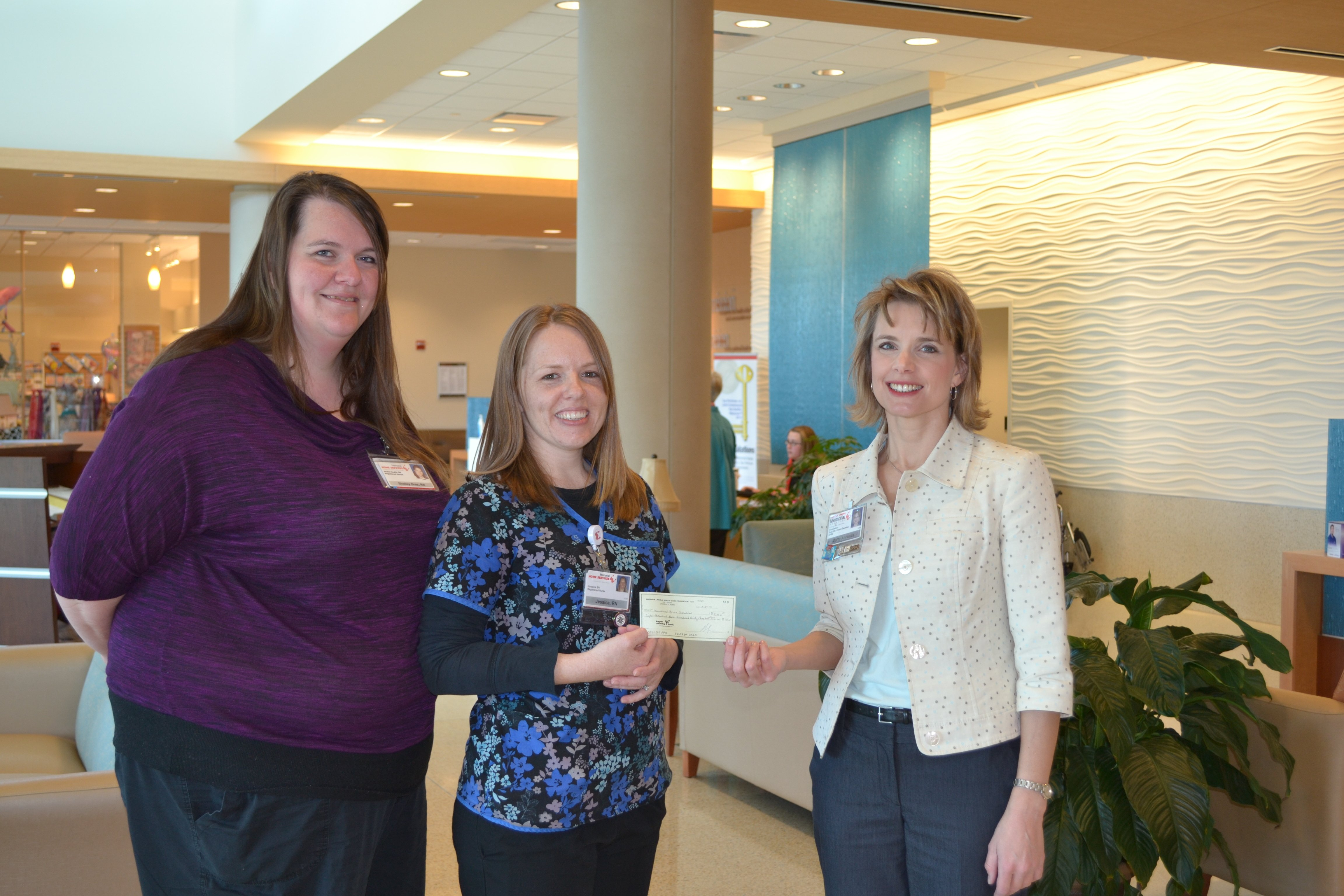 Picture provided by ALMH: From L-R: Shelley Gray, RN, Jessica Spiedel and Marty Ahrends, ALHFoundation Executive Director