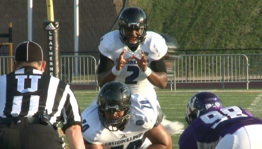 Jalen Whitlow (2) had 3 interceptions in EIU's season-opening loss at WIU