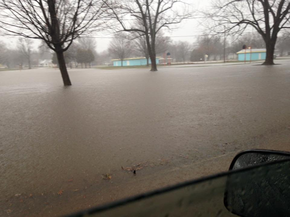 Flooding in Kitchell Park, Pana (Credit: Eli Weddle)