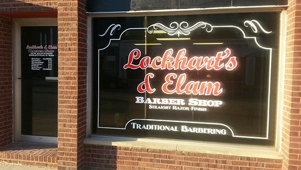 Lockhart's and Elam Barber Shop in Shelbyville