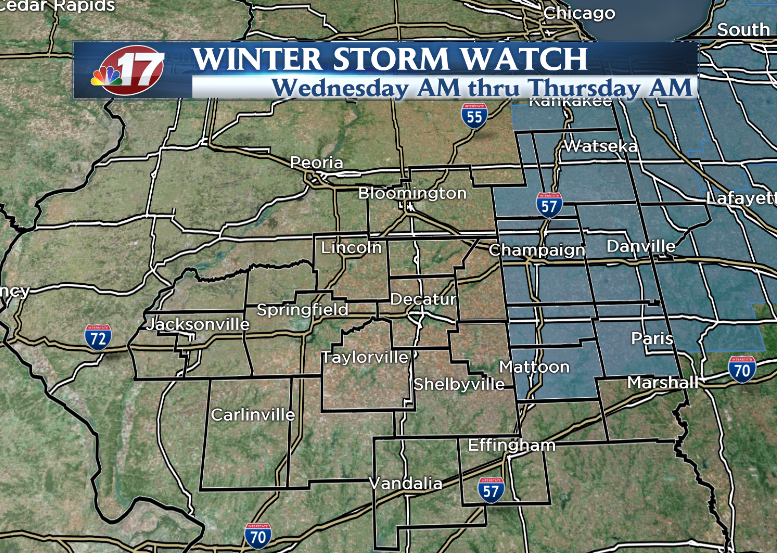 Winter Storm Watches for parts of central Illinois
