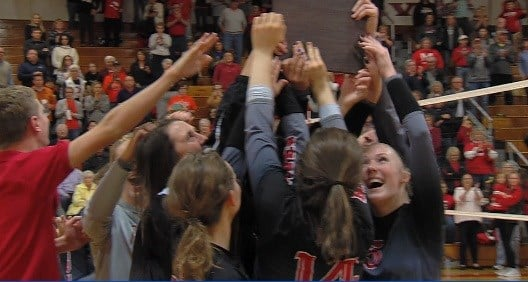 Mt. Zion swept Rochester 2-0 for the Mt. Zion 3A regional championship on Thursday.