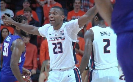 Senior guard Aaron Jordan scored a game-high 19 points and ripped down 7 rebounds as Illinois dominated Evansville 99-60 on Thursday night in Champaign.